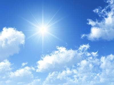 Sun in a blue sky