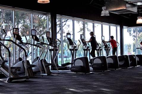 Women doing cardio in gym