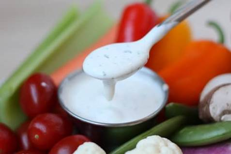 vegetables and ranch