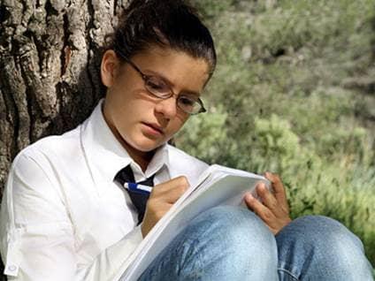Studious girl
