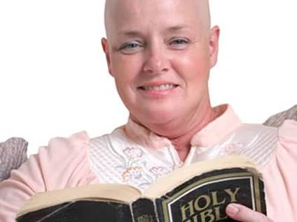 breast cancer survivor reading bible