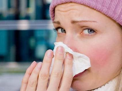nasal, congestion, sniffles, tissue, pink