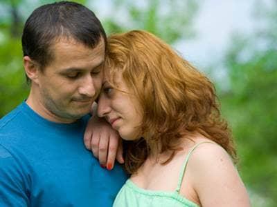 Sad couple