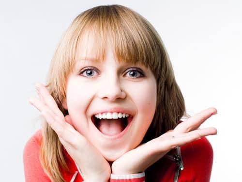 Woman very happy