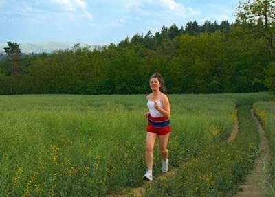 running, exercising