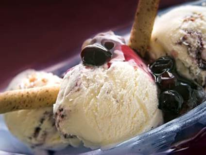 Blueberry Vanilla Ice Cream