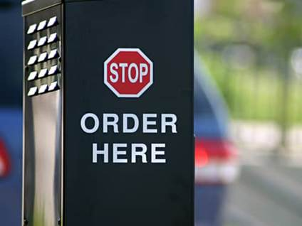 Fast food stop order machine
