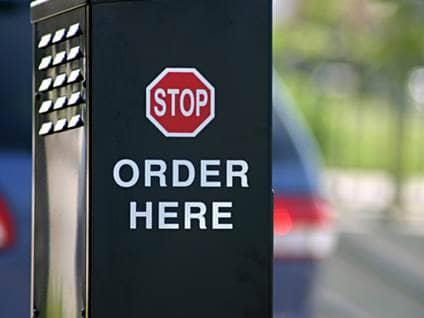 Fast food stop order machine