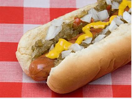 hot, dog, food