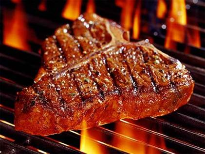 steak, food, grill