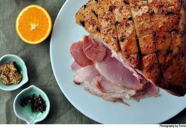 ham, thanksgiving, dinner, feast