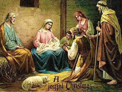 Vintage Christmas Cards of the Baby Jesus - ... beautiful ...