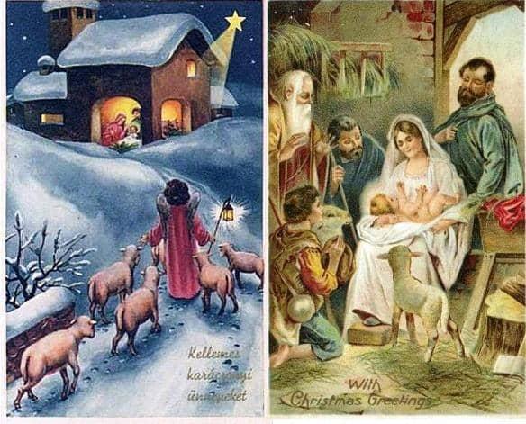 vintage christmas cards of the baby jesus  beliefnet