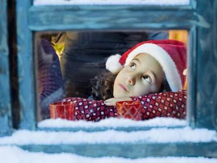 Little girl waiting for Santa