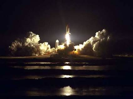 NASA space shuttle launch