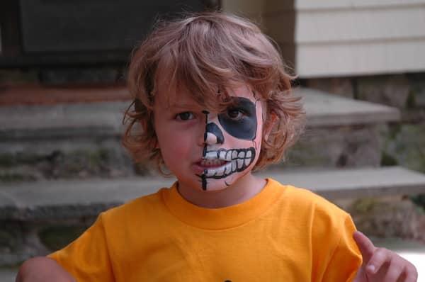 Dante's Spooky Halloween Face