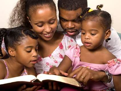 Celebrate Kwanzaa African-American family