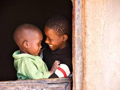 Celebrate Kwanzaa African-American children