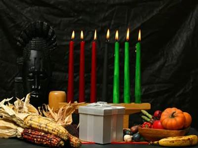 Celebrate Kwanzaa table altar candleholder