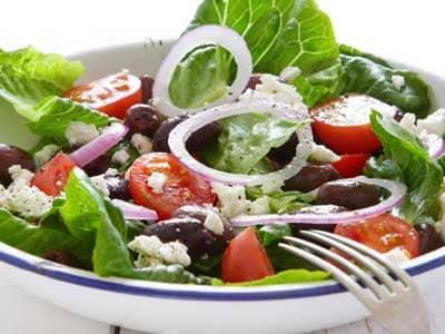 Thanksgiving Recipes - Tomato, Olive, and Feta Salad