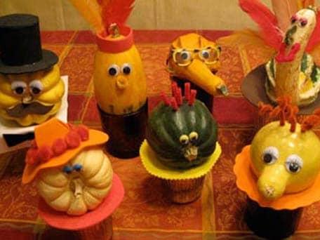 pumpkin and squash faces