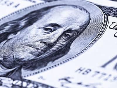 Ben Franklin on a hundred-dollar bill