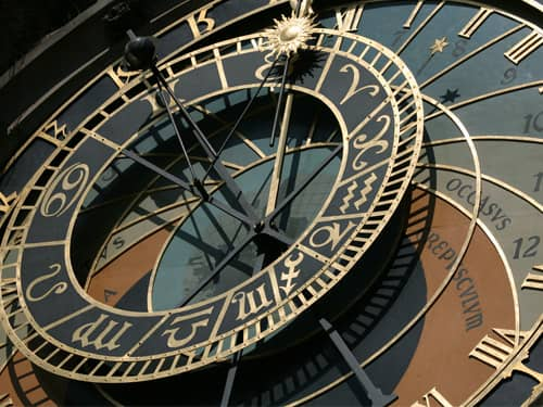 Zodiac Astrology Clock