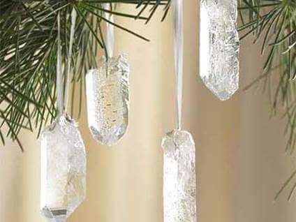 Quartz Crystal Ornaments