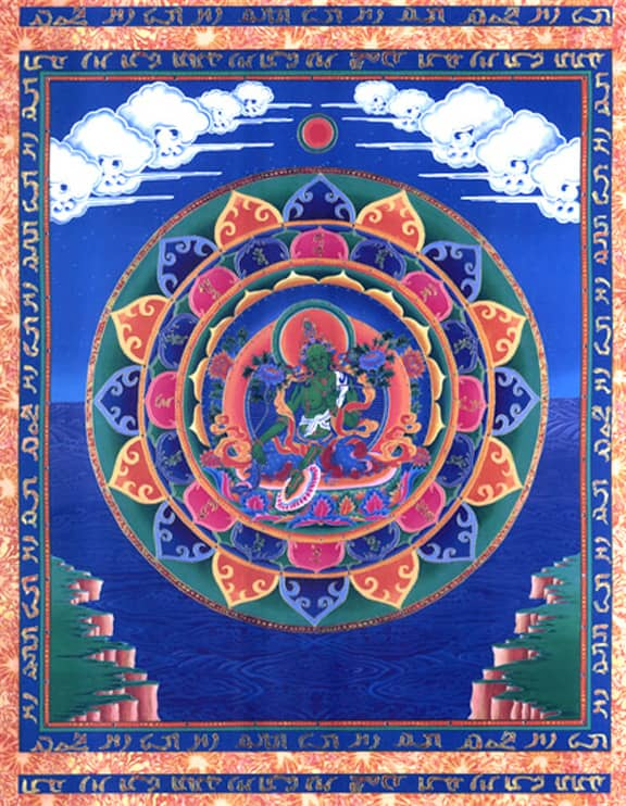 Goddess Green Tara Tibetan Buddhist