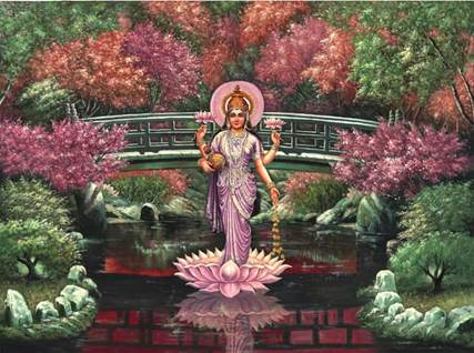 Lakshmi Hindu Goddess of Good Fortune and Beauty