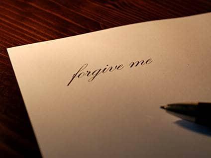 Forgive me letter