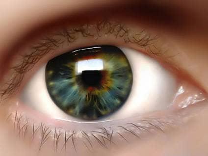 Close-up green amber eye