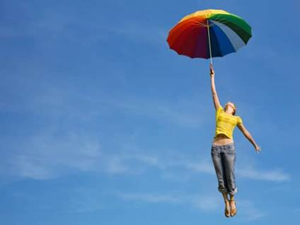 Joy quotes, woman lifted up to the sky