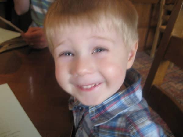 Cute little blonde boy