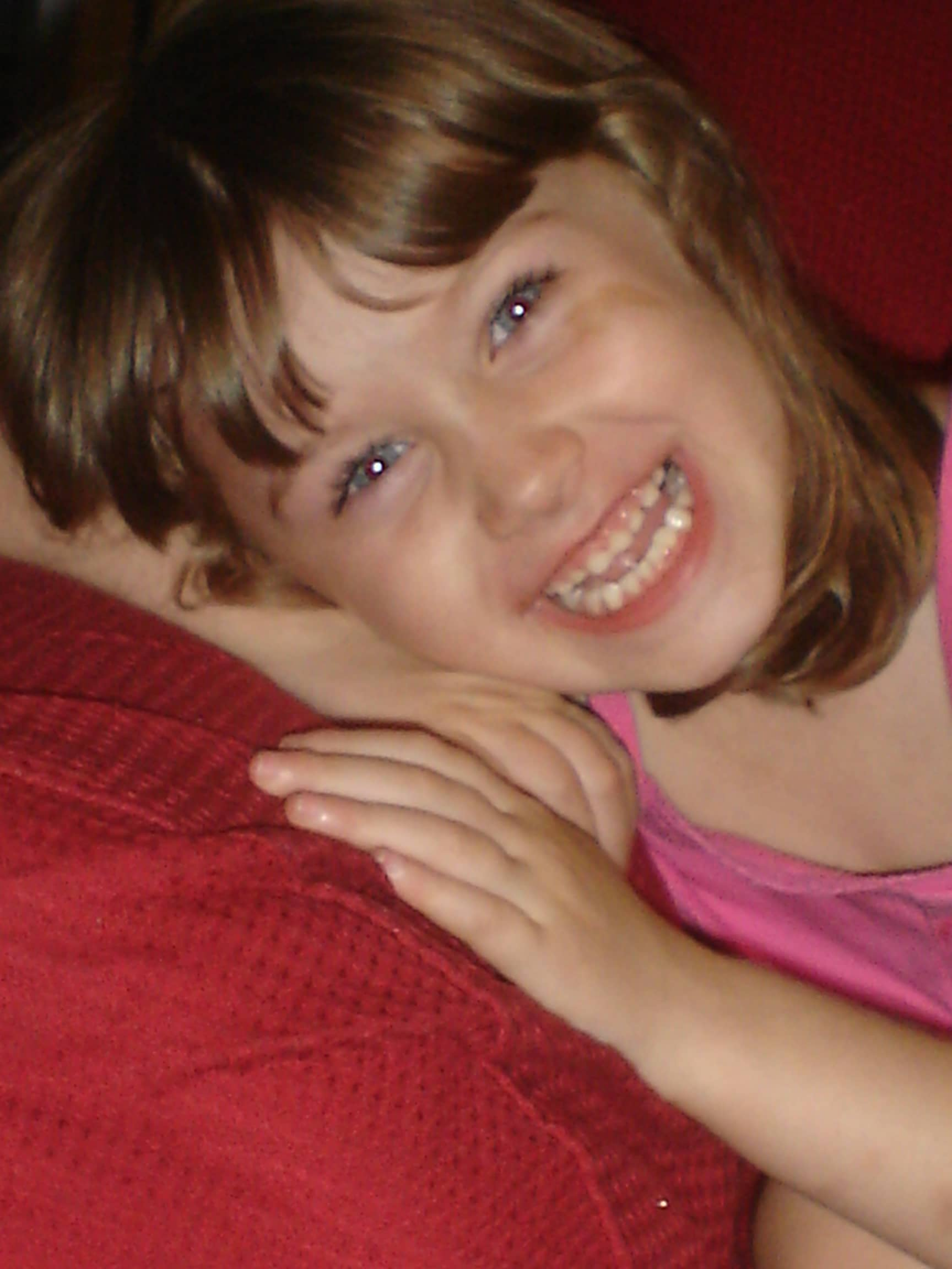 Cute little girl with brown hair