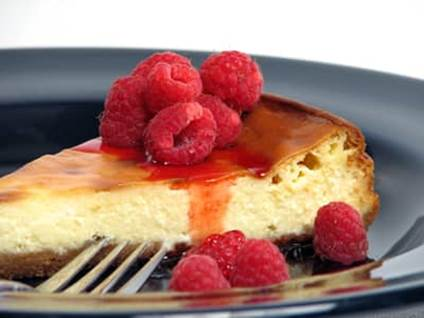 Angel Recipes Cheesecake with raspberries
