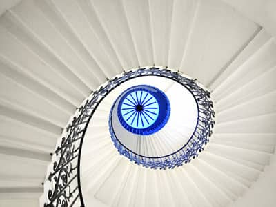 Contacting Your Guardian Angel spiral staircase