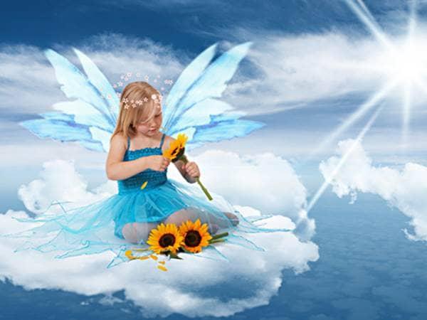 Sunflower sky fairy
