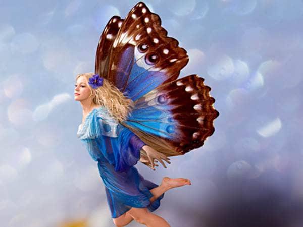 Blue butterfly fairy