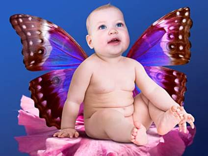 Butterfly baby fairy