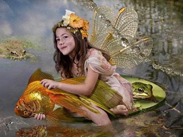 Goldfish girl fairy