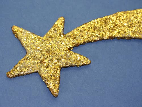Sparkly gold star