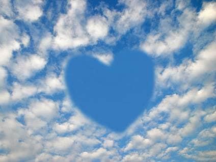 Heart shape in the sky