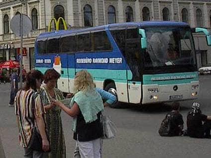 Angel sighting window bus Latvia