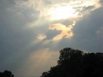 Angel sighting cloud sky light