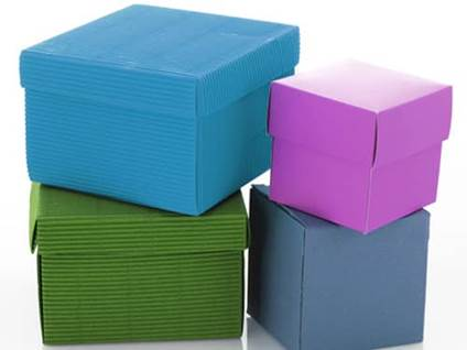 Blue Green Purple boxes
