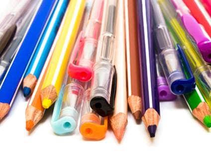Gel pens Colored pencils Markers