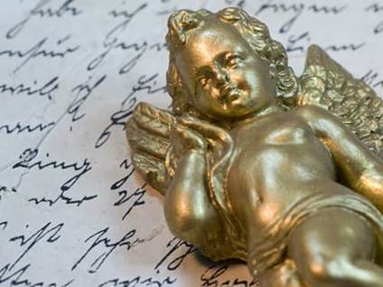 God cherub angel figurine
