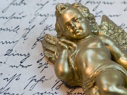 God cherub angel figurine