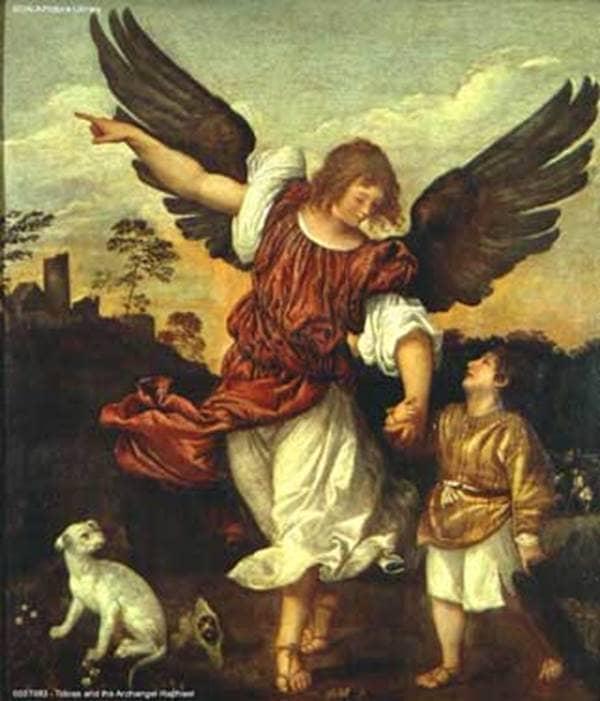 Tobias and the Archangel Raphael (Titian School, 16th Century)